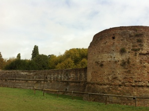 Walls of old fortress in Ravenna