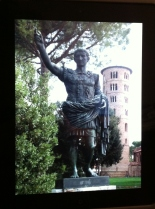 Augustus outside St. Apollinaire in Classe
