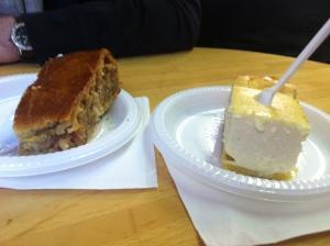 strudel and cheesecake