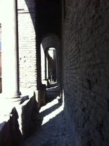 Remnants of Theodoric's Palace on Via Roma in Ravenna