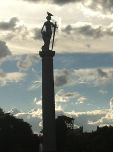 Jardin de Luxembourgh statue with bird